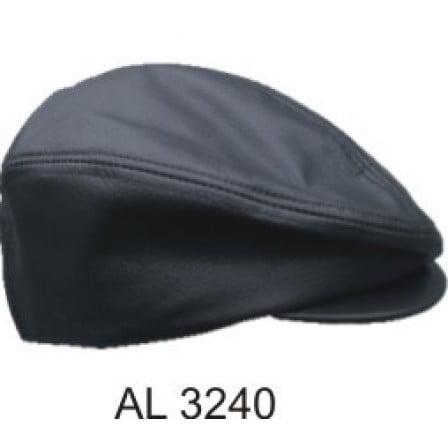 Men's Large Size Motorcycle Biker Heavy Duty Black Plain Leather Ascot (Leather Ascot)