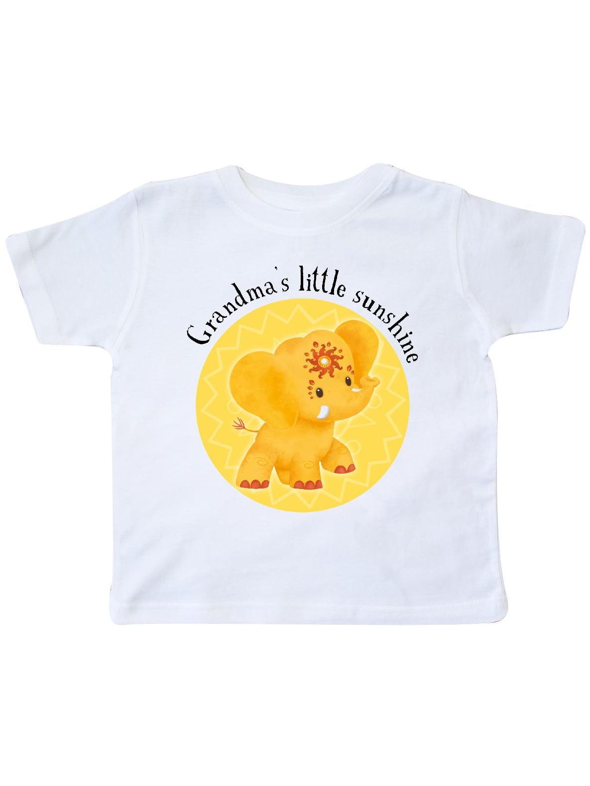 Grandmas Little Sunshine Yellow Elephant Etana Cute Toddler T-Shirt