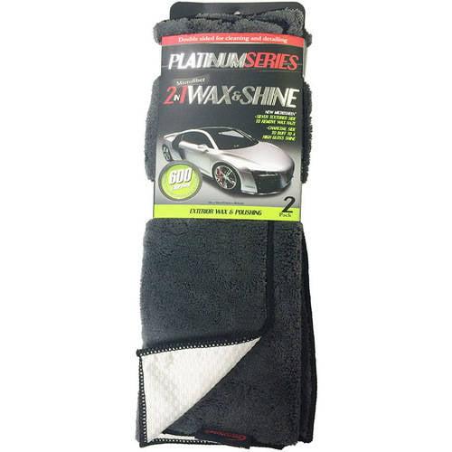 Microtex Platinum XL Wax & Shine Towels, 2pk
