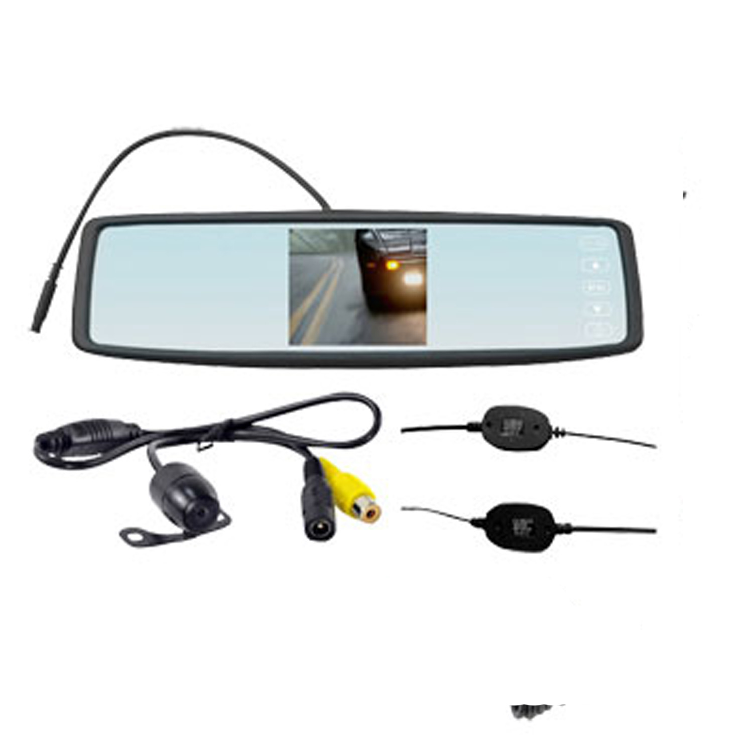 4.3 INCH REAR VIEW MIRROR W/CAMERA WIREL