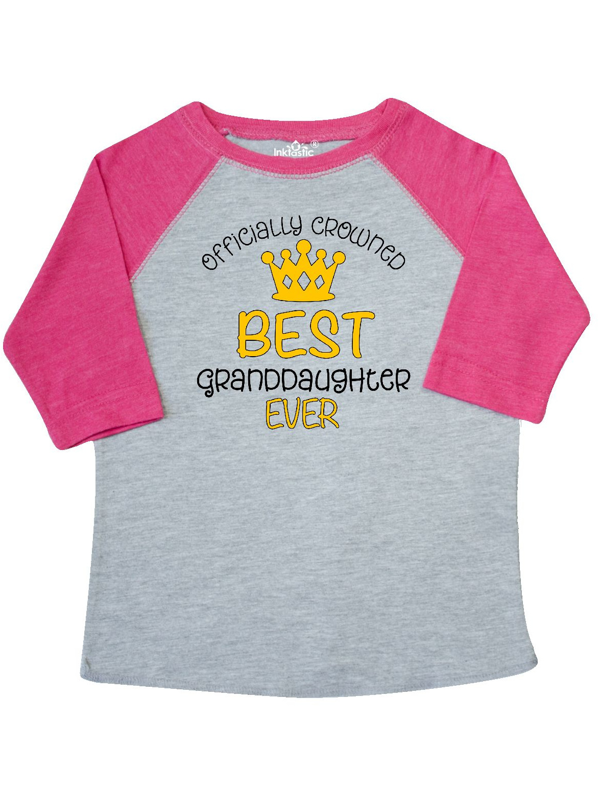 Officially Crowned Best Granddaughter Ever gold crown Toddler T-Shirt