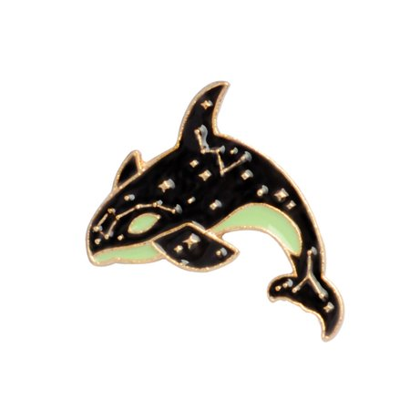 Boyijia Dolphin/Shark Shaped Men Women Girls Brooch Alloy Plating Breastpin Clothing Pin Jewelry Gift - image 1 of 8