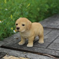 YELLOW STANDING LABRADOR PUPPY STATUE