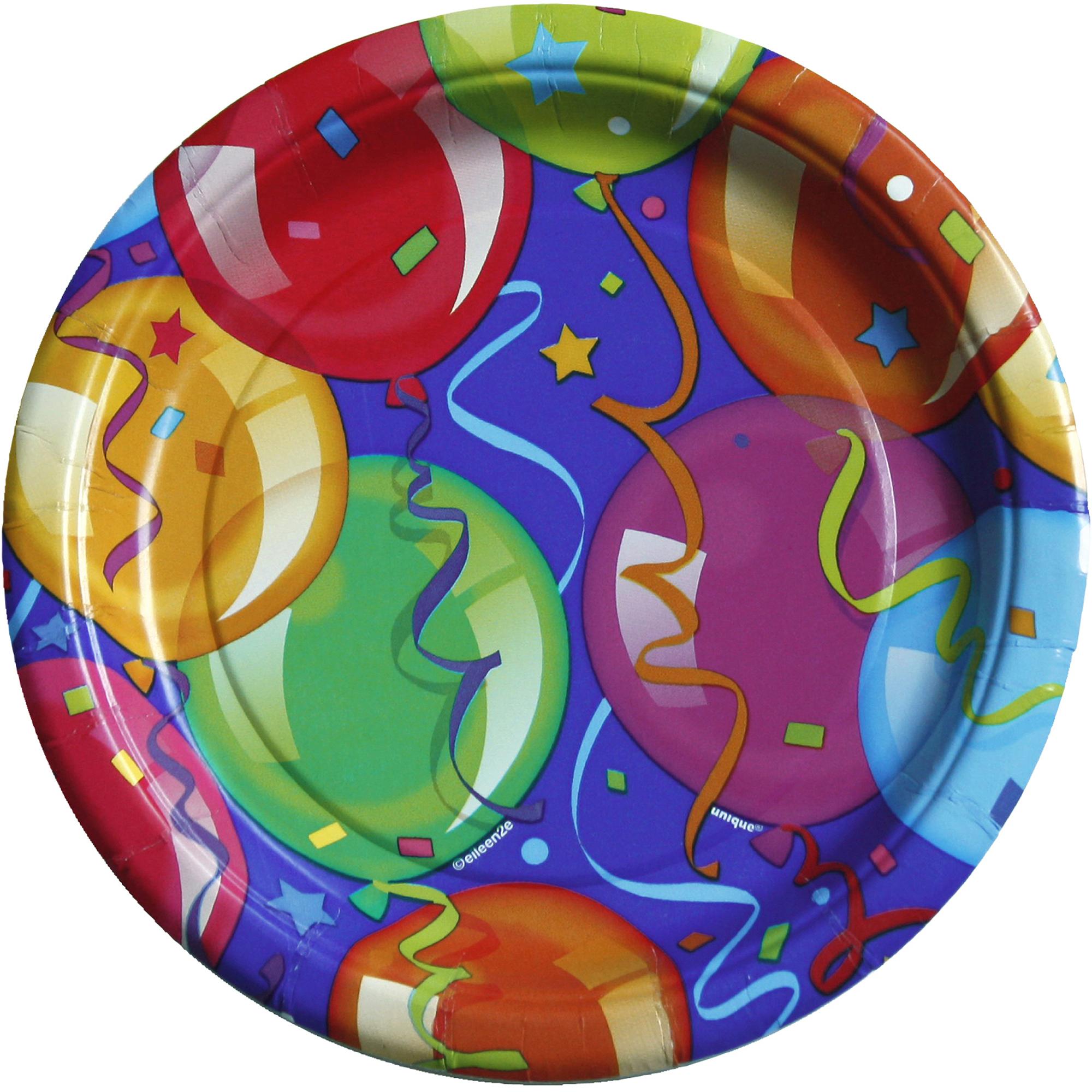 "7"" Bravo Balloons Dessert Plates, 12 Count"