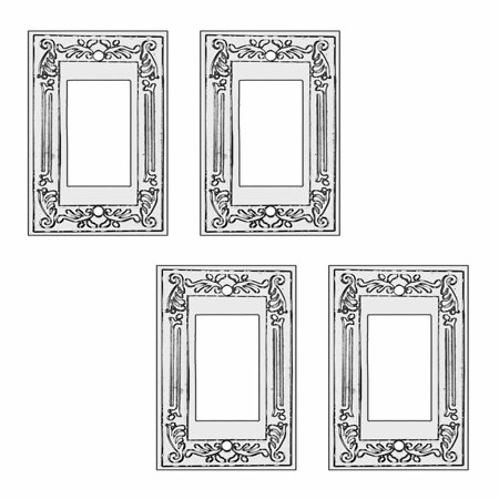 4 Victorian Switch Plate GFI Rocker Chrome (Victorian Paste)
