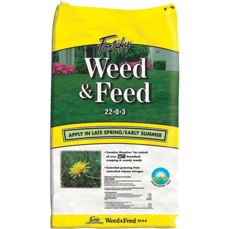 Fortify Weed & Feed Lawn Fertilizer with Weed (Best Grass Feed And Weed Killer)