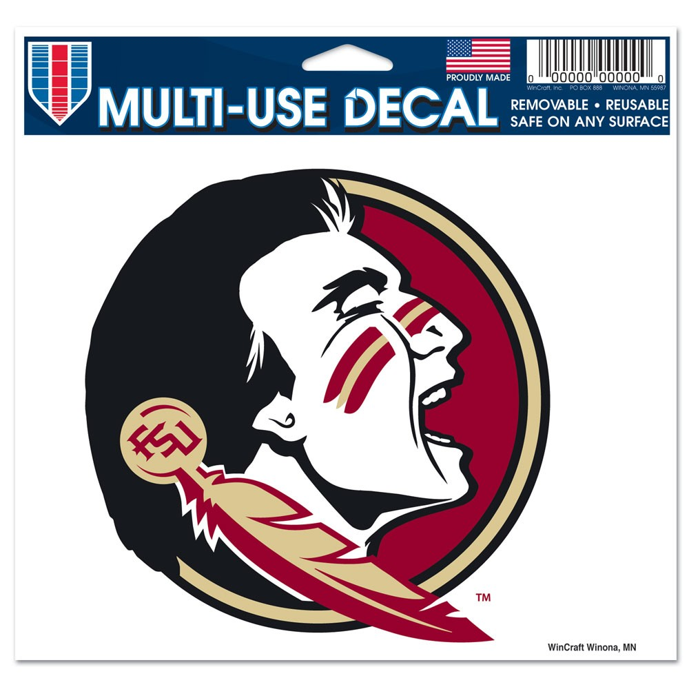Florida State Seminoles Official NCAA 5 inch x 6 inch MultiUse Car Decal by WinCraft