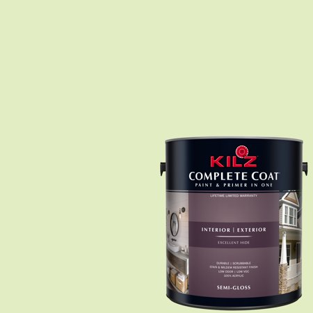 KILZ COMPLETE COAT Interior/Exterior Paint & Primer in One #LG210-02 Garden (Best Paint For Garden Shed)