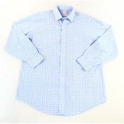 Brooks Brothers NEW Blue Mens 16 1/2 Windowpane Pocket Button-Front Shirt $92
