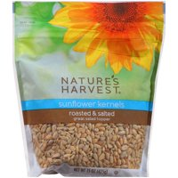 Nature's Harvest Roasted & Salted Sunflower Kernels, 15 oz