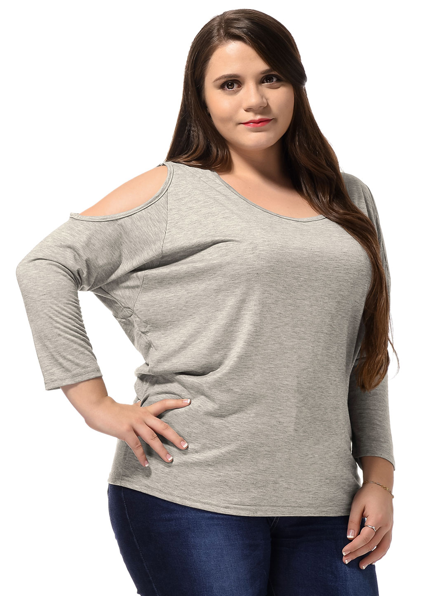 LightScoop Neck Fashional Loose Top for Lady Plus Size