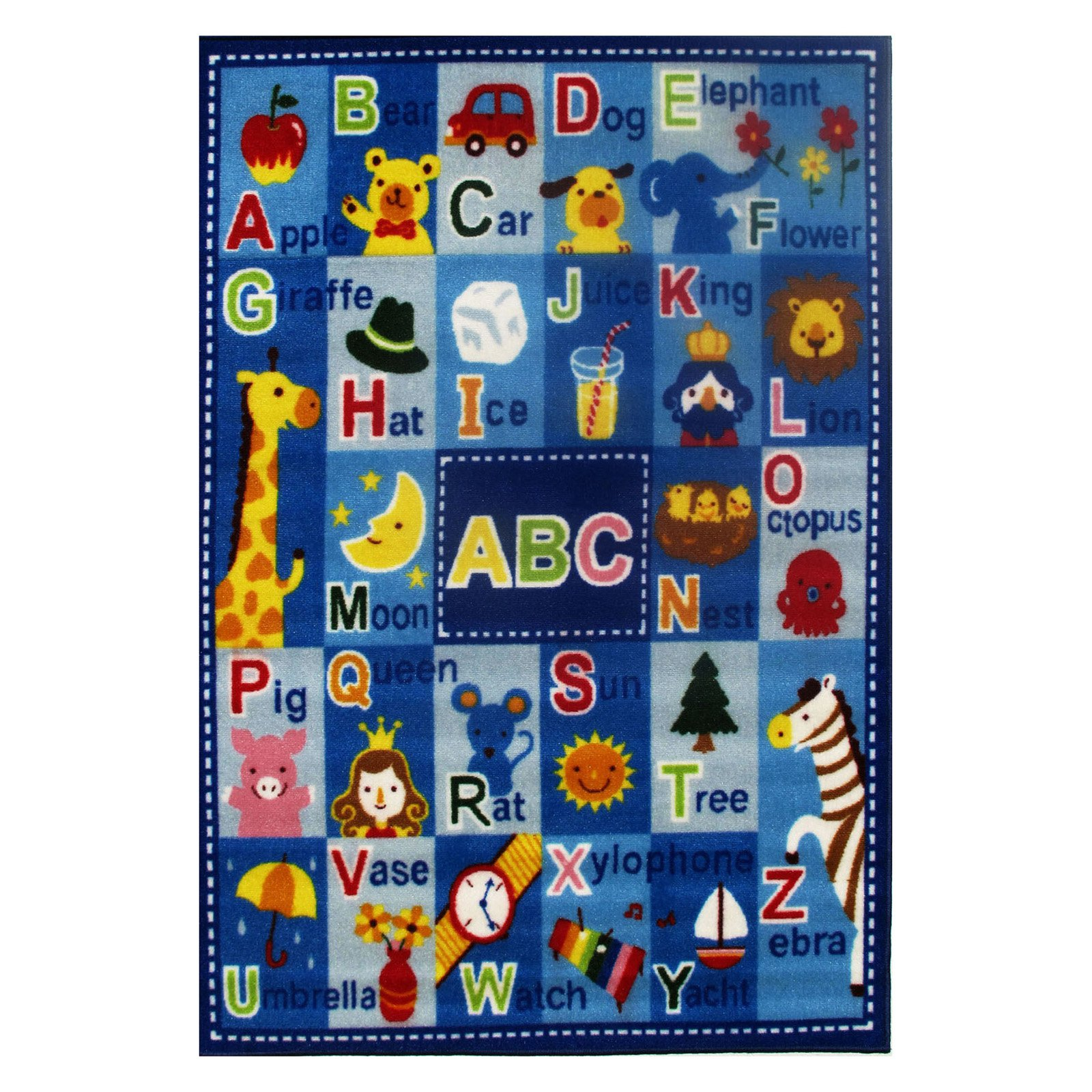 "Fun Rugs Letters and Names Kids' Rug, Blue, 3'3"" x 4'10"