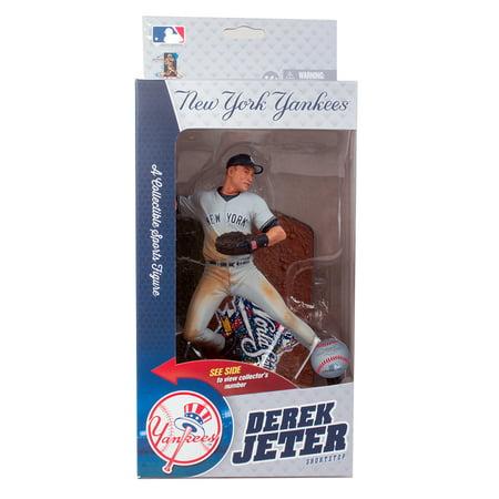 McFarlane MLB Sports Picks World Series Derek Jeter 1998 Action Figure Derek Jeter Autographed Mlb Baseball