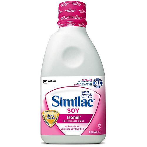Similac Soy Isomil Infant Formula Ready-to-Feed, 1 Qt bottle