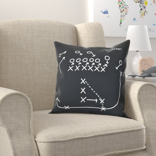 Zoomie Kids Bauer Reverse! Throw Pillow