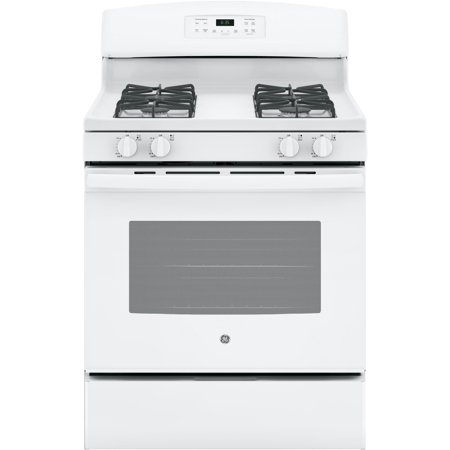 GE Appliances JGB635DEKWW 30 Inch Gas Freestanding Range White White Freestanding Gas Range