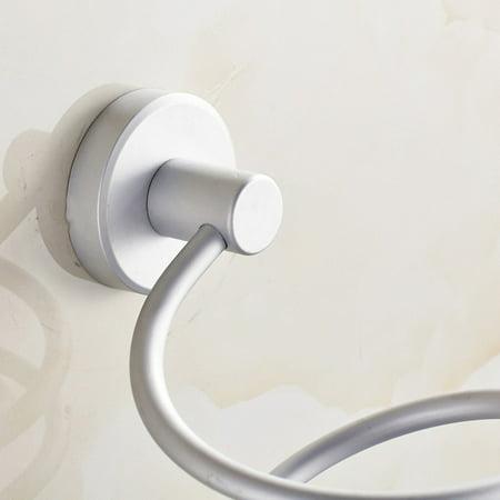 Aluminum Storage Holder (Wall Hair Dryer Rack Space Aluminum Bathroom Wall Holder Shelf Storage )