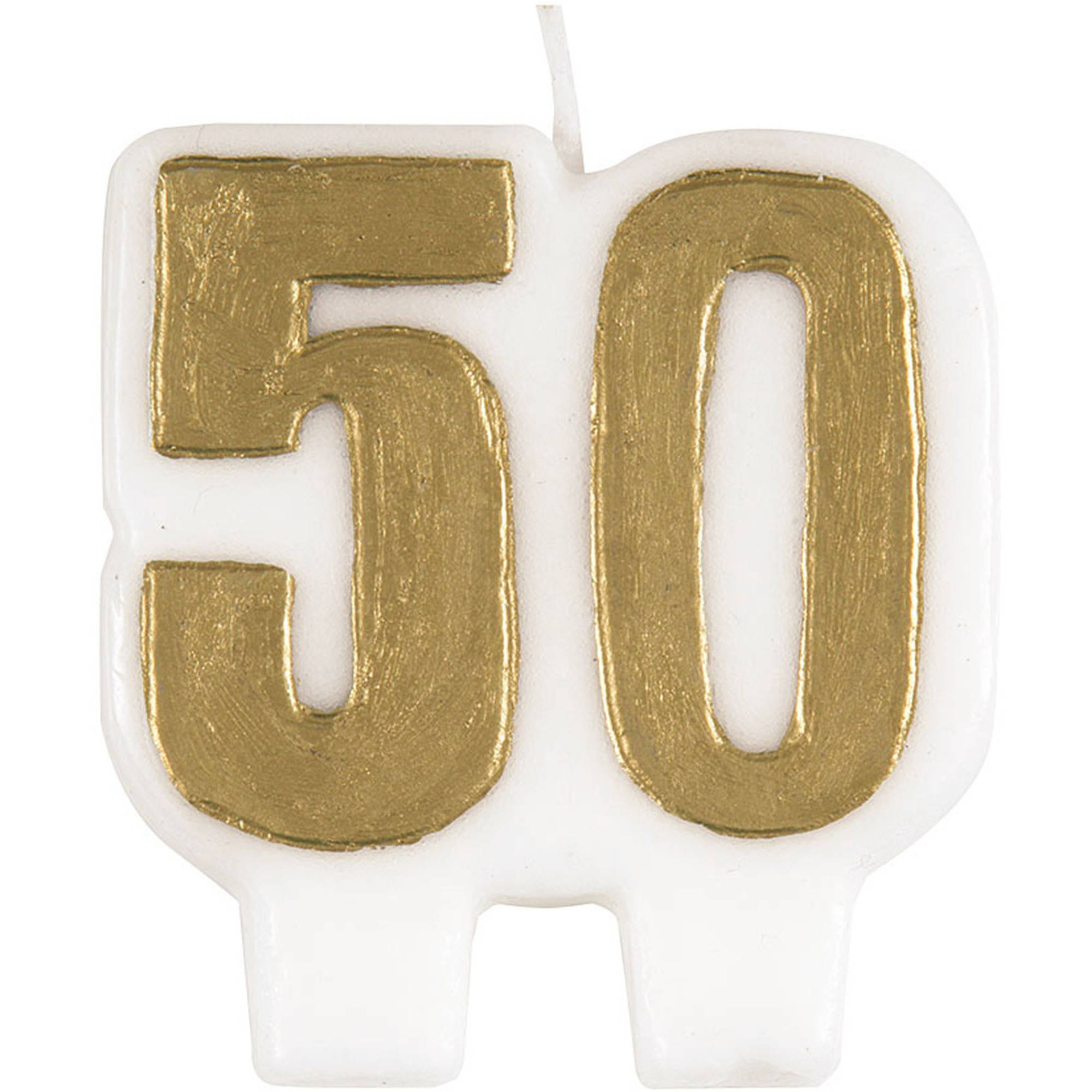 Number 50 Birthday Candle 25 In Gold 1ct