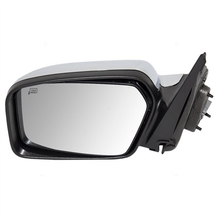 Drivers Power Side View Mirror Heated Memory Puddle Lamp Black Base w/ Chrome Cover Replacement for Lincoln 6H6Z17683B
