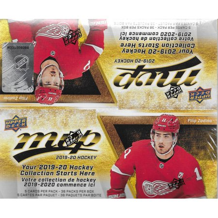 2019 2020 Upper Deck MVP NHL Hockey Series Unopened Retail Box of 36 Packs with Chance for Stars, 1 Draft Picks, Rookie Cards, Silver Scripts -