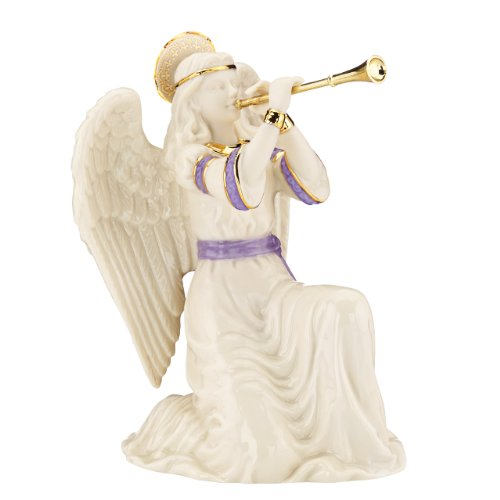 Lenox First Blessing Nativity Kneeling Angel with Trumpet