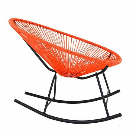 Acapulco Indoor/Outdoor Rocking Chair (Orange) ()