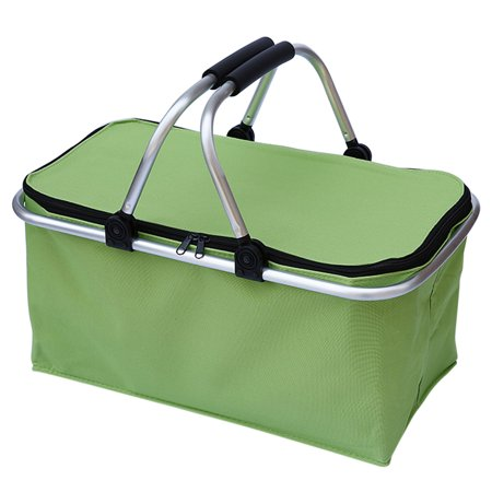 Picnic Basket, Outgeek Folding Insulated Large Market Shopping Picnic Tote Basket with Zipper Double Handle - Picnic Baskets Wholesale