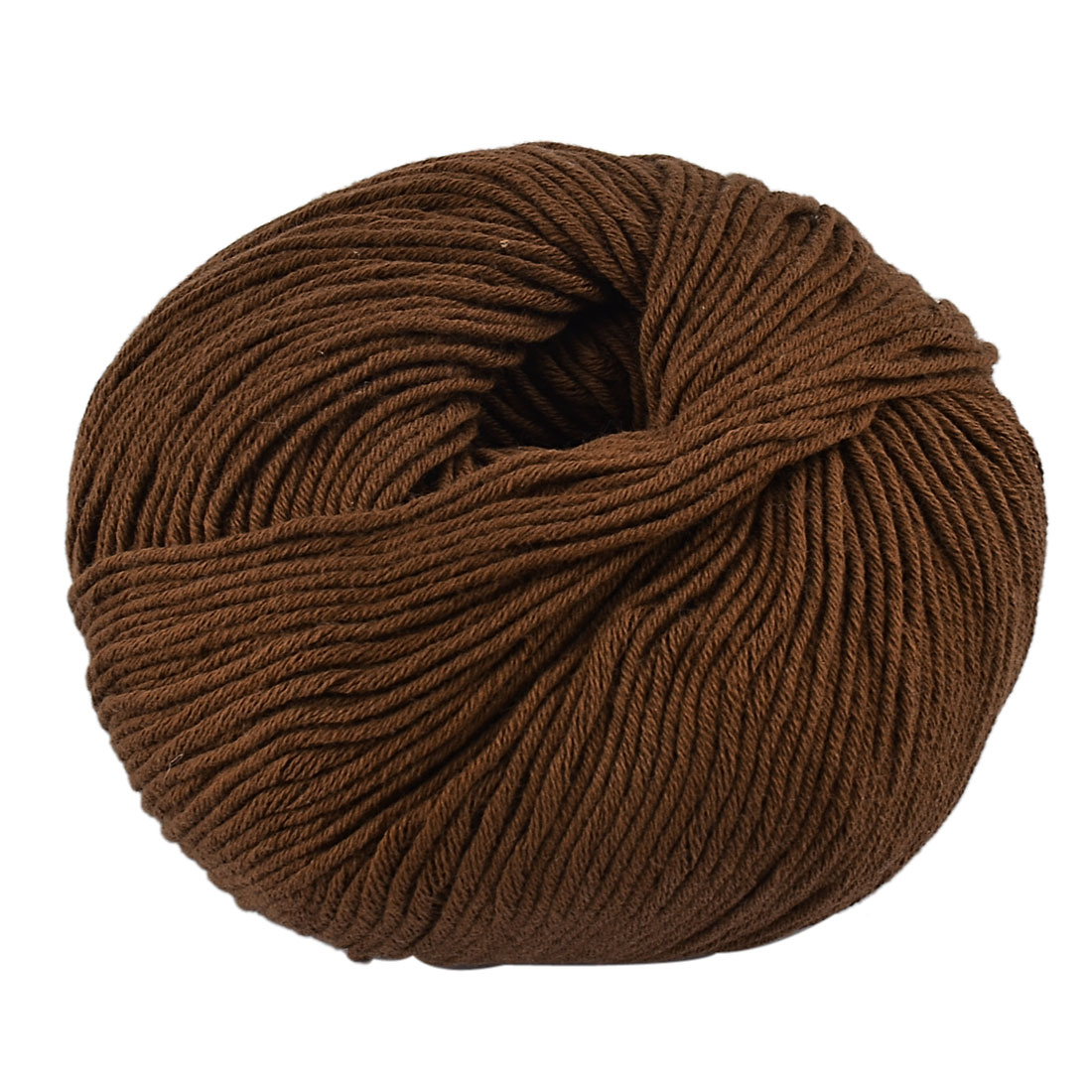 Household Cotton Handcraft Hand Knitting DIY Scarf Hat Sweater Yarn Brown