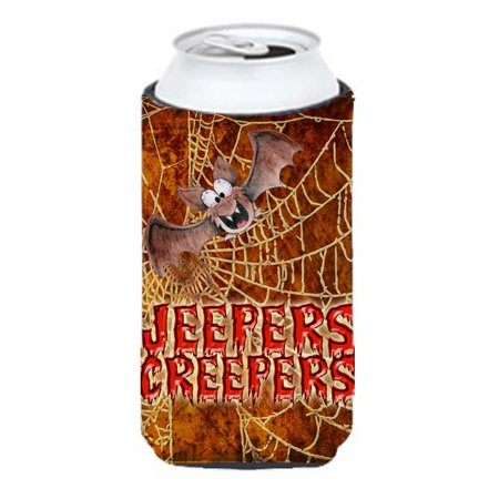 Jeepers Creepers With Bat And Spider Web Halloween Tall Boy bottle sleeve Hugger - 22 To 24 oz. - image 1 de 1
