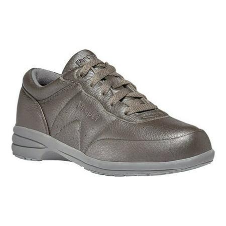propet women's washable walker sneaker, pewter, 8 medium us