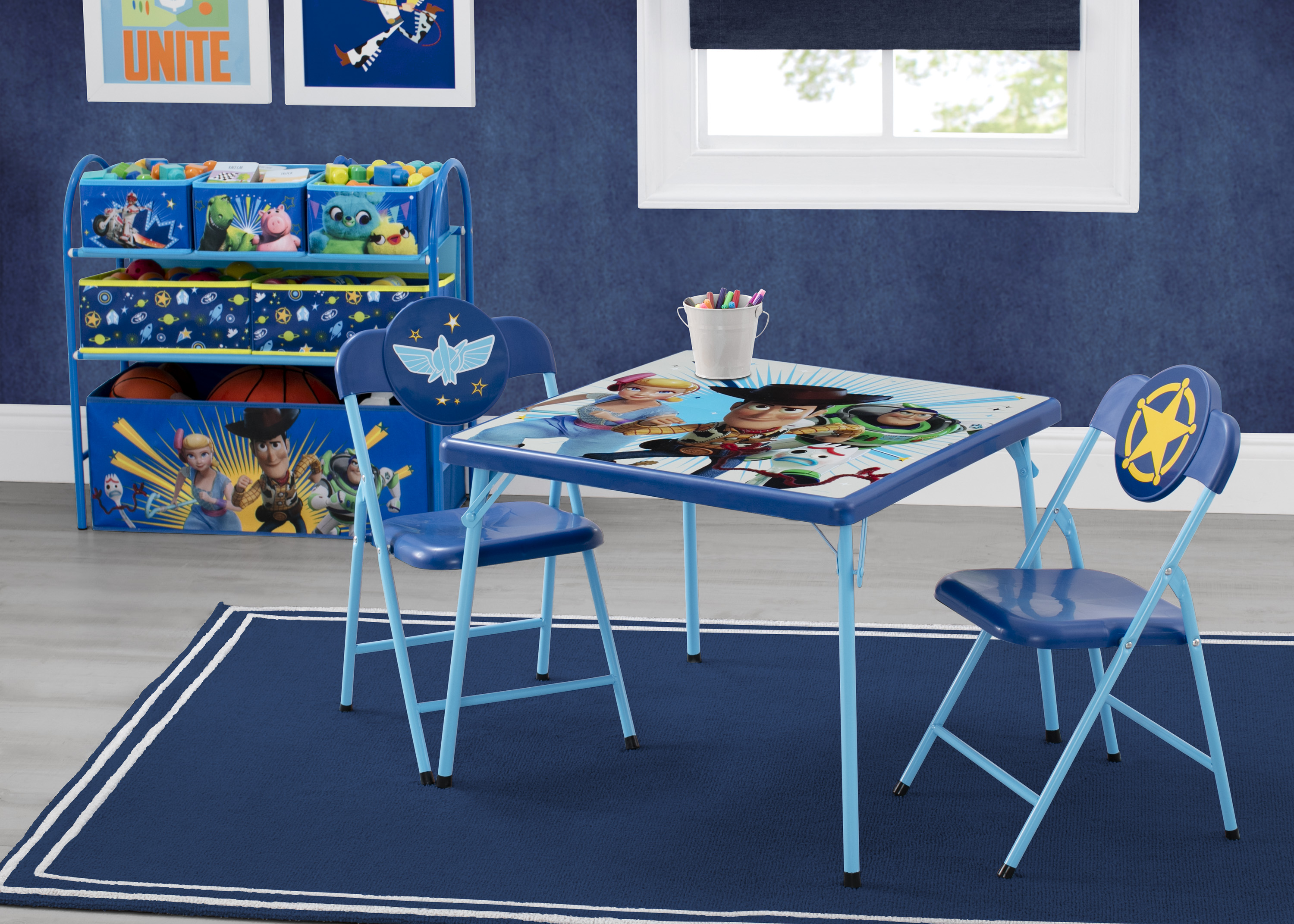Disney/Pixar Toy Story 4 4-Piece Toddler Playroom Set by Delta Children - Includes Table & 2 Chair Set and Multi-Bin Toy Organizer - Walmart.com
