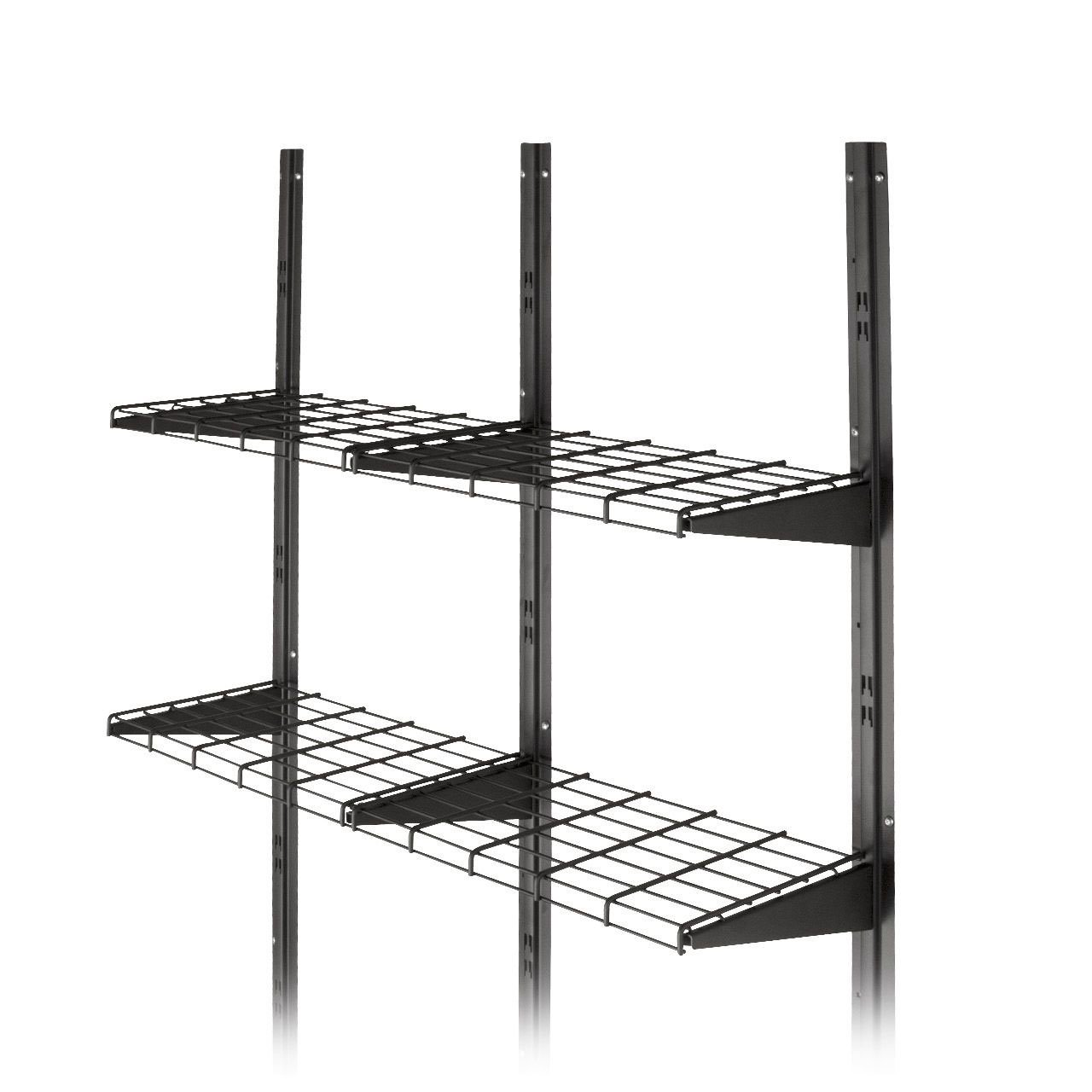 Suncast BMSA1S Versatile Heavy-Duty Wire Shed Storage Tier Shelf Storage Kit  (2 Pack)