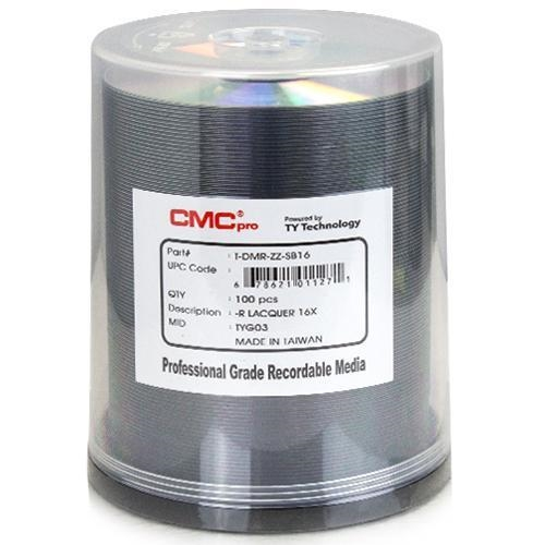 100 CMC Pro Taiyo Yuden 16X DVD-R 4.7GB Silver Thermal Lacquer