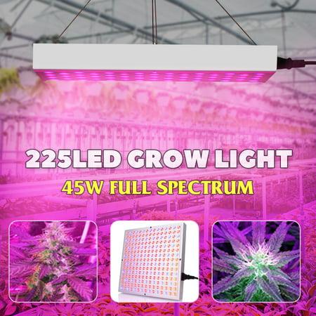 45W LED Grow Light Full Spectrum Panel Hydro Veg Bloom Flower Indoor Plant (Roleadro Panel Grow Light Series 45w Led)
