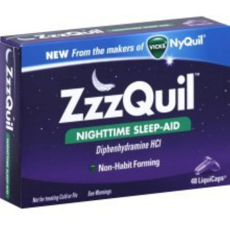 Zzzquil Nighttime Sleep Aid Liquicaps 48 Liquicaps  Pack Of 2