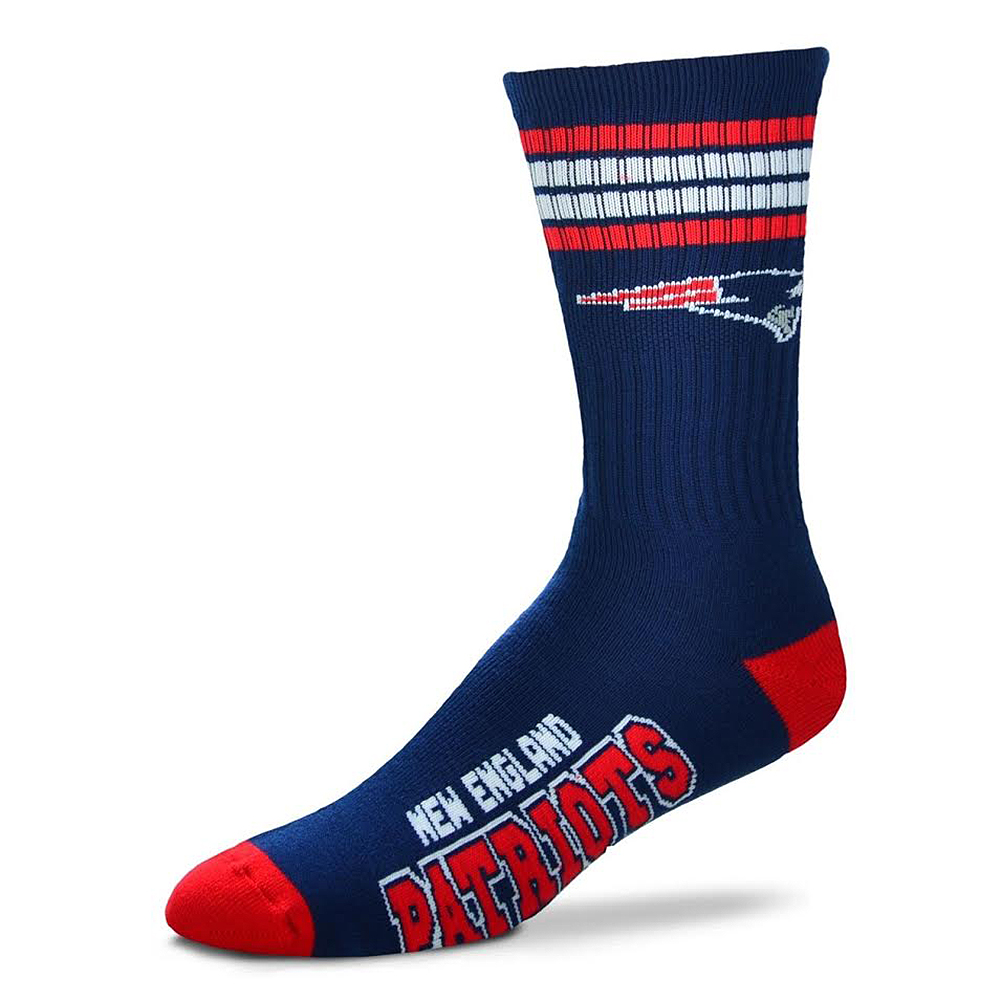 NFL New England Patriots Cushioned Crew Socks [Men's Large]