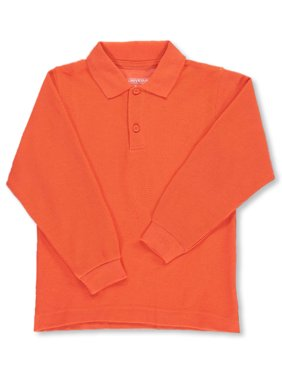 Unisex Boys Girls Long Sleeve Pique Polo Shirt w/Stain Release (2T-20) (Toddler)