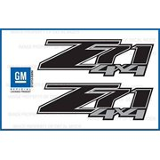 Chevy Silverado Z71 4x4 decals stickers Black Blackout - FBLK (2007-2013) bed side 1500 2500 HD (set of 2) [Officially Licensed, made in the USA, brand Decal Mods]