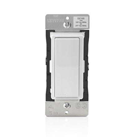 Leviton DZ15S-1BZ Decora Smart Switch with Z-Wave Plus Technology, White/Light Almond, Works with Alexa - Leviton Decora Plus Double Throw