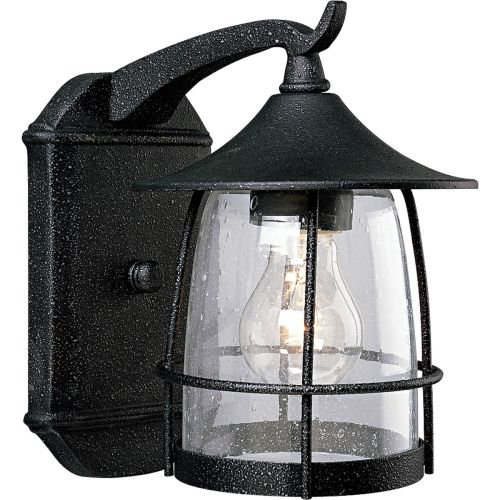 Progress Lighting P5763 Prairie 1 Light Outdoor Wall Sconce with Seedy Glass Sha by Progress Lighting