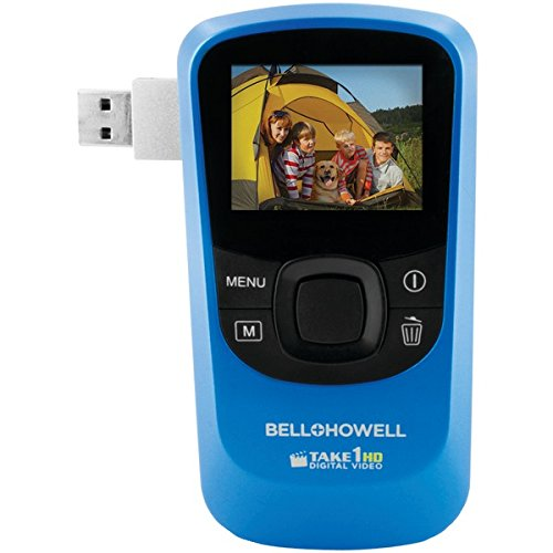 Bell & Howell T10HD-BL Bell+howell T10hd-bl 5.0 Megapixel 1080p Take1hd Digital Video Camcorder Wtih Flip-out Usb [blue]