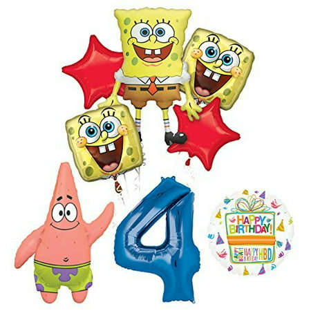 Spongebob 1st Birthday (Spongebob Squarepants 4th Birthday Party Supplies and Balloon Bouquet)