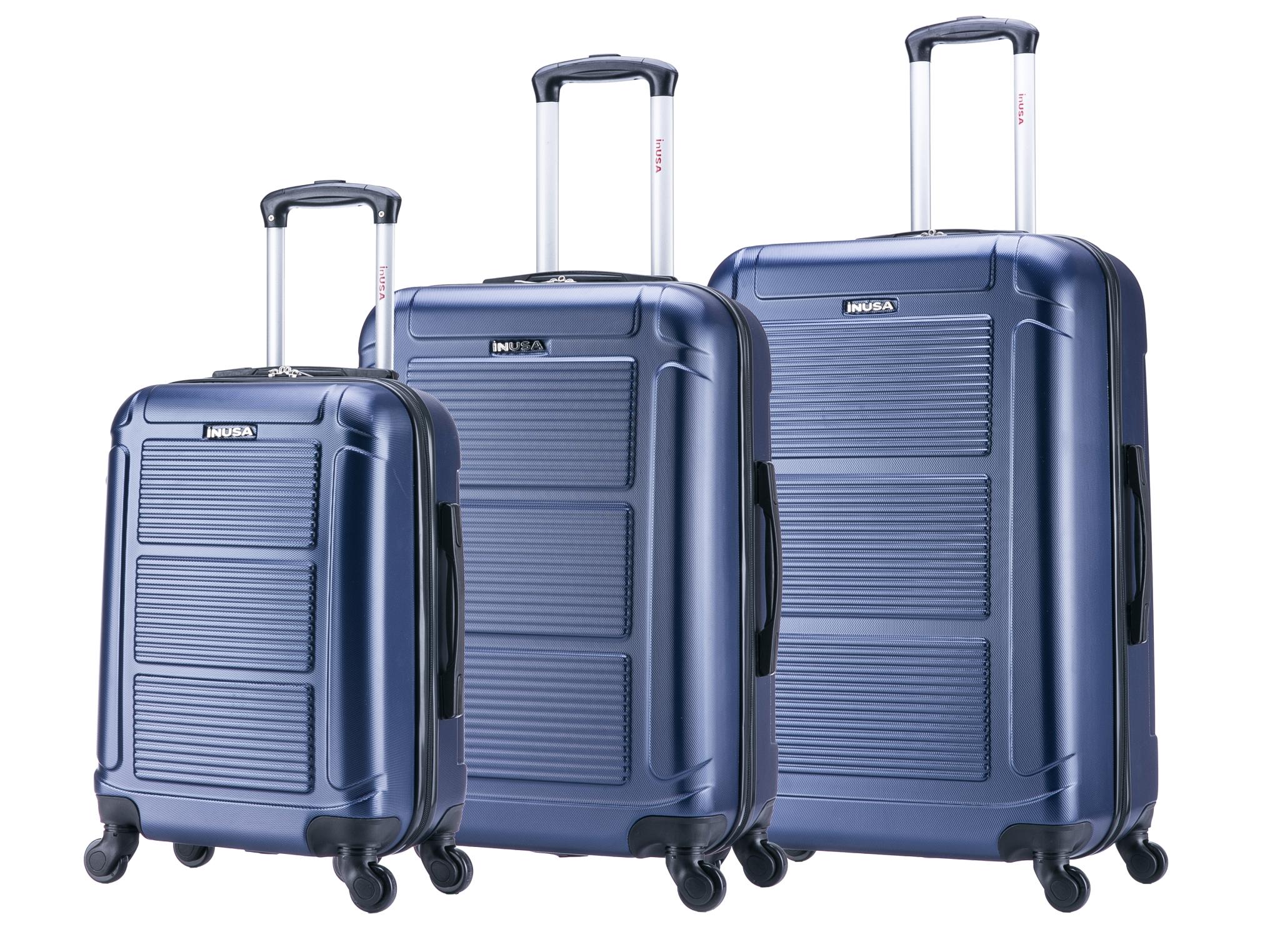 InUSA Pilot 3-Piece Lightweight Hardside Spinner Set Luggage