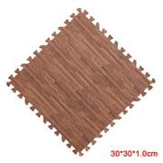 xinxinxx Home Floor Mat Carpet Blanket Exercise Gym Bathroom EVA EVA Foam Blanket Rug Kid Play Crawling Wood Pattern Foam Carpet