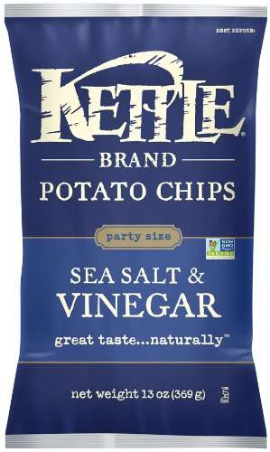 Kettle Brand Potato Chips, Sea Salt & Vinegar, 13 Oz by Snyder's-Lance