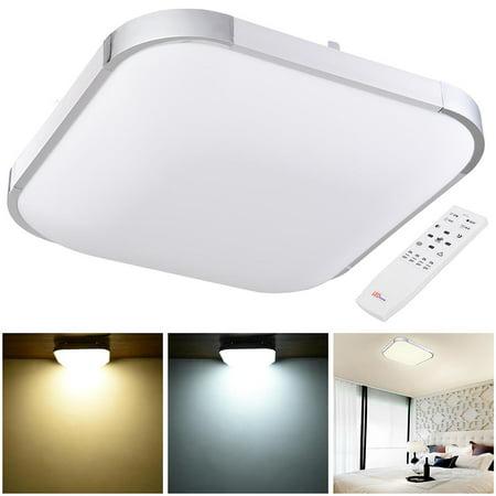 yescom 36w 15 modern dimmable led ceiling light square aluminum flush mount remote control. Black Bedroom Furniture Sets. Home Design Ideas