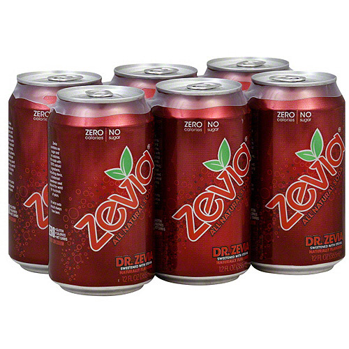 Zevia Dr. Zevia Soda, 12 oz, 6ct (Pack of 4)