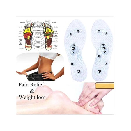 Ropalia Therapy Acupressure Magnetic Massage Shoe Insole Gel Pad Foot Care Relax