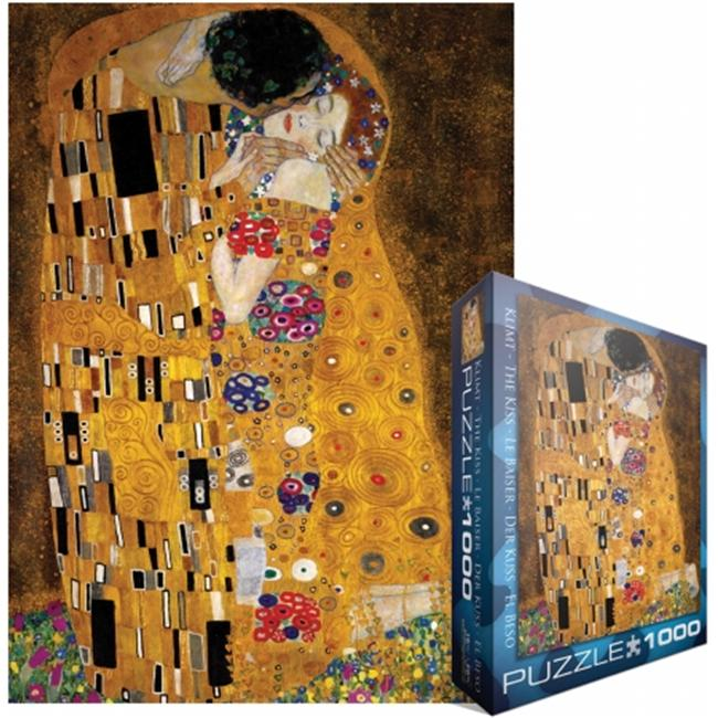 Eurographics EUROPZ-4365 Jigsaw Puzzle 1000 Pieces 19. 25 inch X26. 5 inch -Klimt - The Kiss (der Kuss)