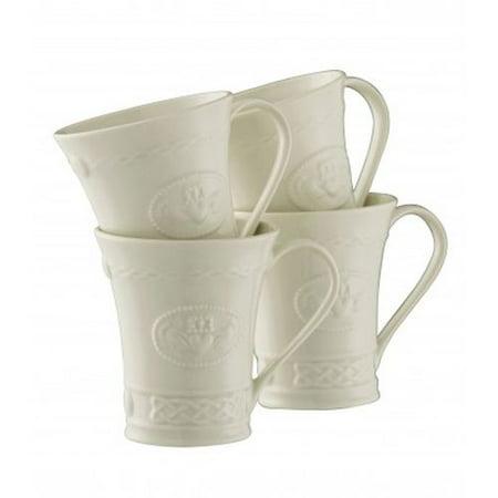 Belleek Set (Belleek Claddagh Mug, Set Of 4 )